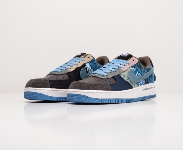 Nike x Travis Scott Air Force 1 Low синие. Вид 2