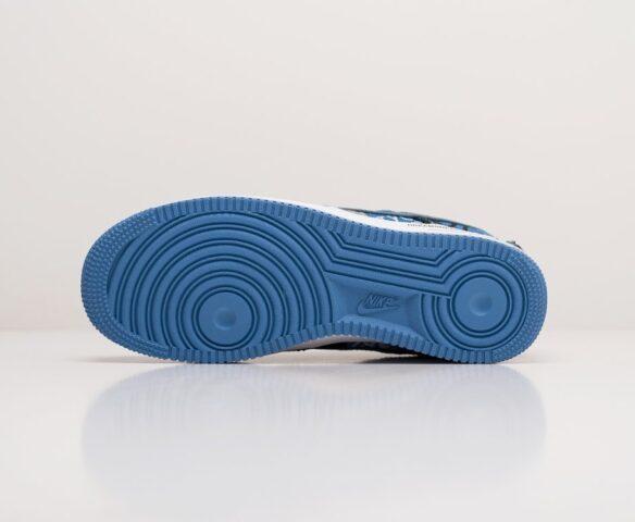 Nike x Travis Scott Air Force 1 Low синие. Вид 4