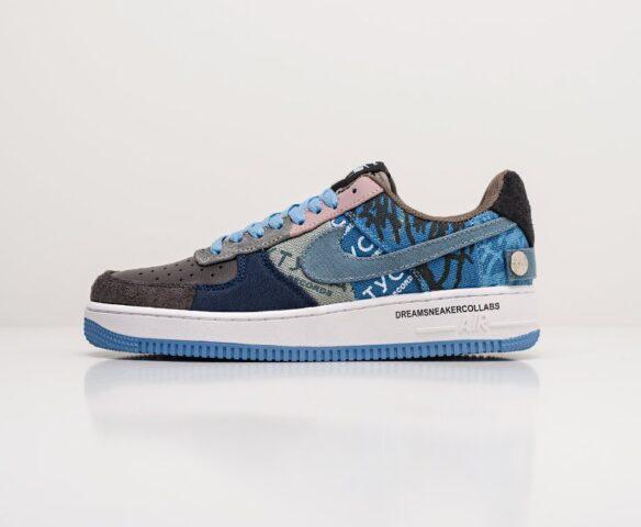 Nike x Travis Scott Air Force 1 Low синие. Вид 5