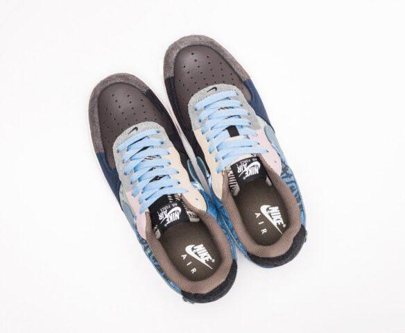 Nike x Travis Scott Air Force 1 Low синие. Вид 6
